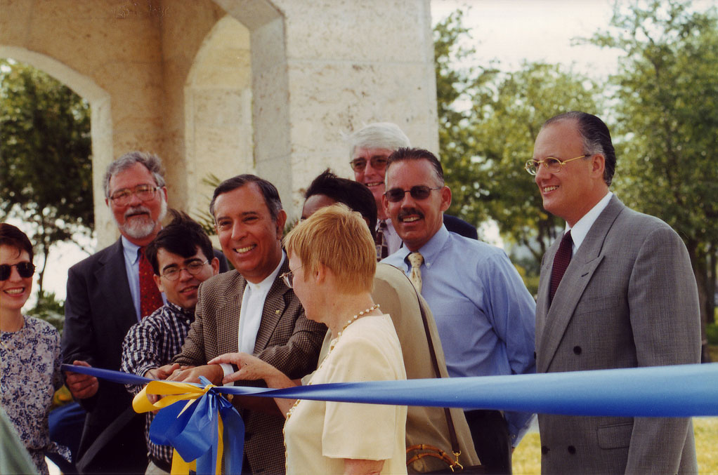 8th Street entrance groundbreaking, Special Collections & University Archives, Green Library, Florida International University