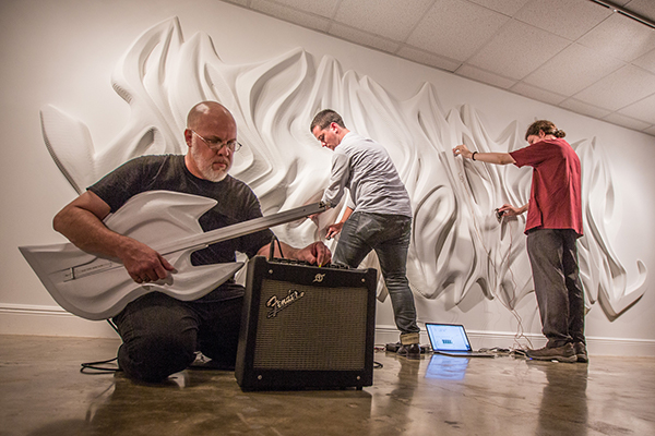 Creating at MBUS: Students and faculty members from the architecture and music departments collaborated to create 'ABYCTO,' a sonic art installation.